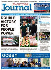 August 2014 edition of the Bradley Stoke Journal magazine.