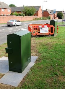 Recently-installed EO cabinet no. 38 on Brook Way, Bradley Stoke.