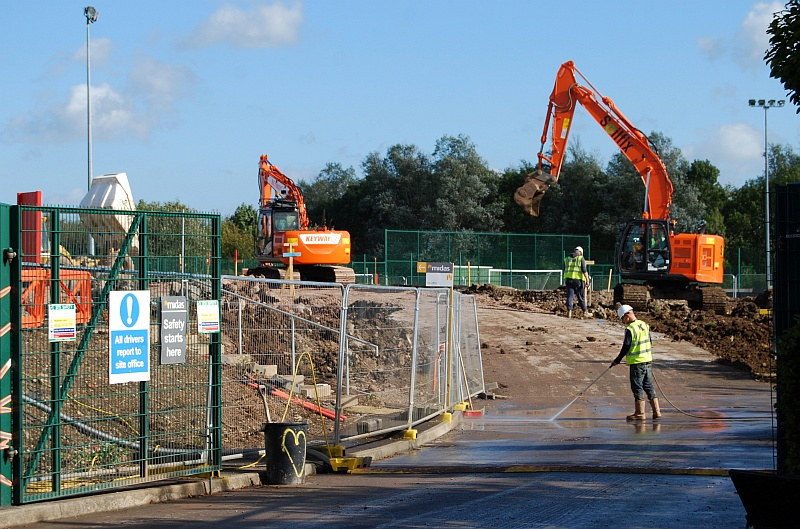 Construction of the new primary phase building gets under way at Bradley Stoke Community School.