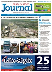 November 2014 edition of the Bradley Stoke Journal magazine.