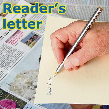 Reader's letter (Bradley Stoke Journal).
