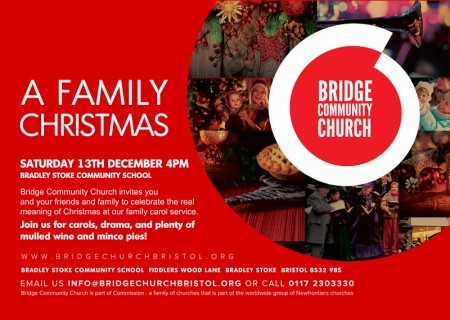 A Family Christmas at Bridge Community Church, Bradley Stoke, Bristol.