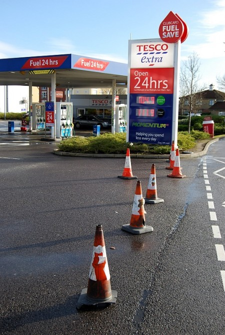 The Tesco petrol filling station in Bradley Stoke was closed due to problems with electrical equipment following a power cut.