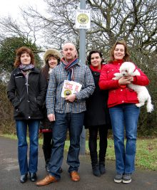 Andrew Tancock (centre) with other members of the Snowberry Close Neighbourhood Watch group in Bradley Stoke.