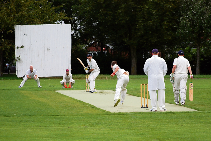 A match in progress at the Baileys Court Cricket Ground in Bradley Stoke.