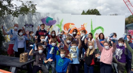 Social Action Youth (SAY): Graffiti project at Patchway Common Skate Park.
