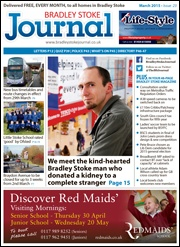March 2015 edition of the Bradley Stoke Journal magazine.