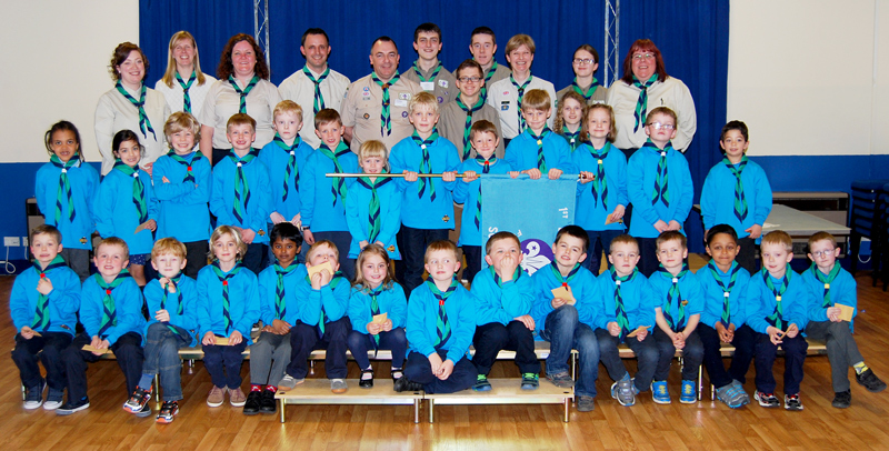 Beaver investiture ceremony at the 1st Bradley Stoke Scout Group.