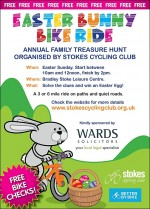 Easter Bunny Bike Ride poster.