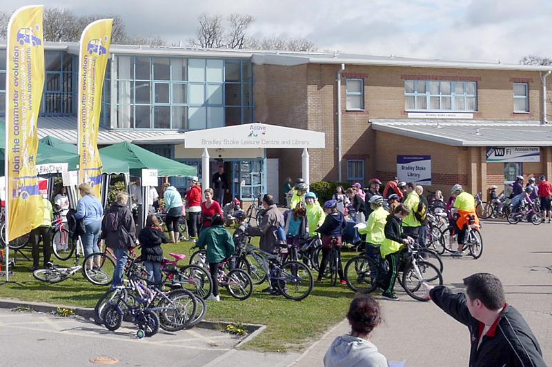 Easter Bunny Bike Ride in Bradley Stoke, Bristol.