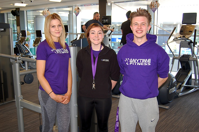 Staff at the Anytime Fitness gym in Bradley Stoke, Bristol.