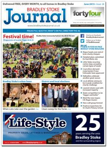 June 2015 edition of the Bradley Stoke Journal magazine.