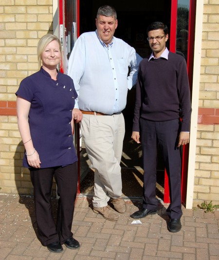 Staff at Bradley Stoke Pharmacy: Charlotte Neal, Richard Slade and Ashish Mehta.