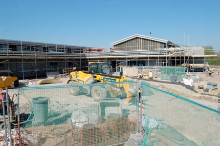 New primary phase building under construction at Bradley Stoke Community School.