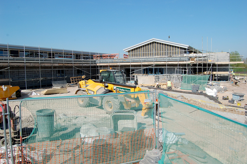 New primary phase building under construction at Bradley Stoke Community School.