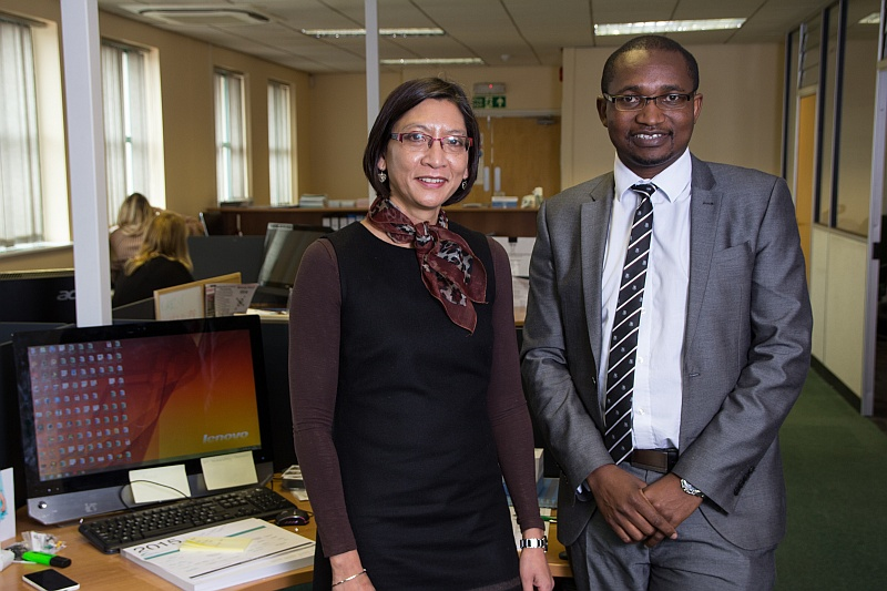 Trevor Mapondera (right), of Nurseline Healthcare Limited, and Hayley Chiba, of Better Numbers.