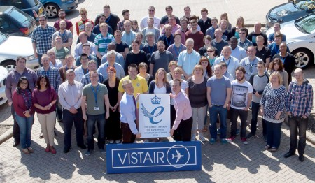 Staff at Visitair in Bradley Stoke, Bristol, winners of a Queen's Award for Enterprise.