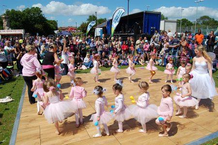 Baby Ballet perform at the Bradley Stoke Community Festival 2015.