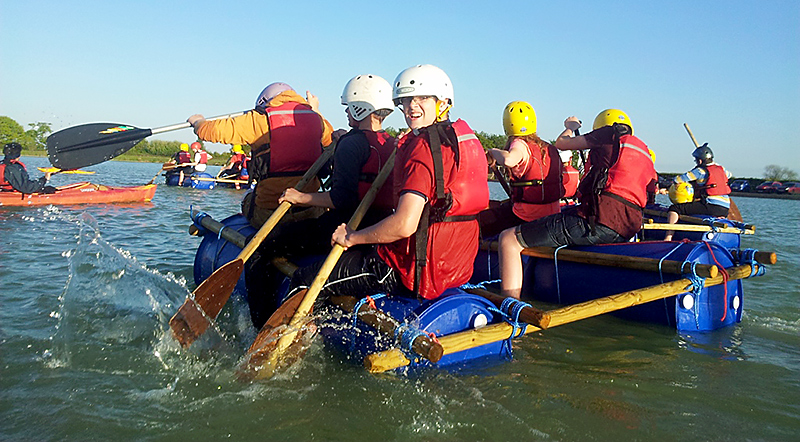 1st Bradley Stoke Scouts rafting at West Country Water Park, Bristol.