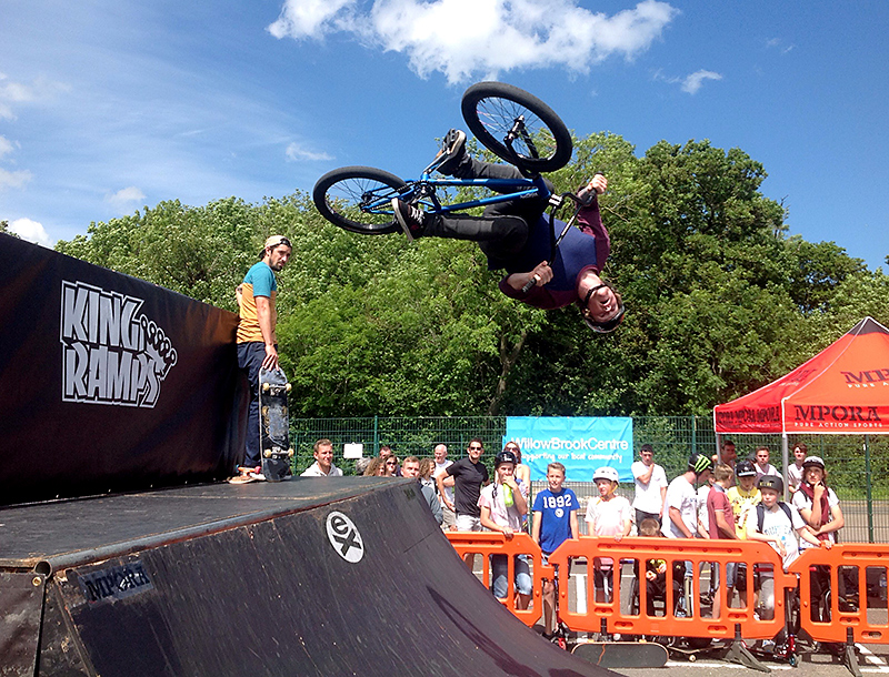 Bradley Stoke Community Festival skate park competition 2014.