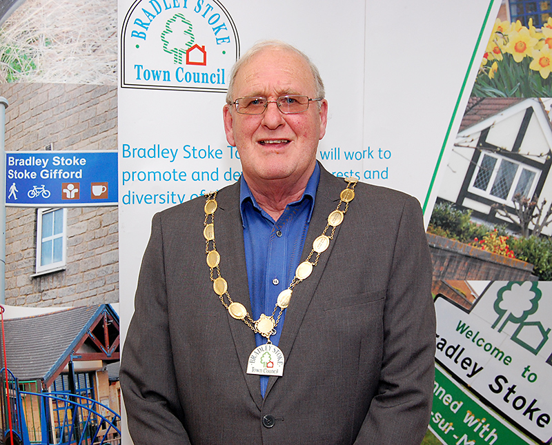 Cllr Roger Avenin, mayor of Bradley Stoke for 2015/16.