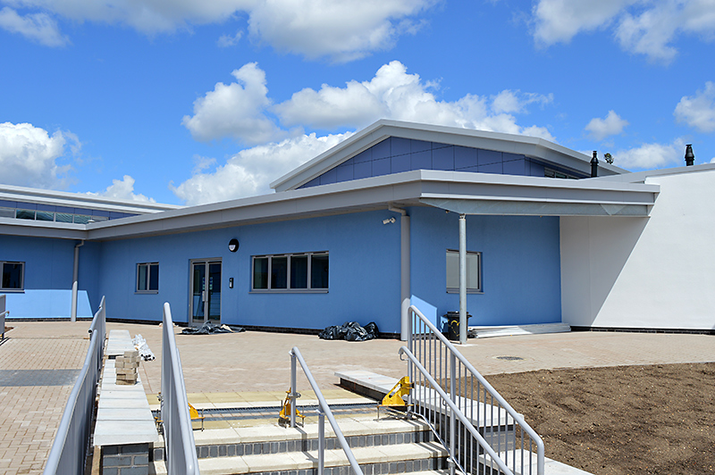 The new primary phase building at Bradley Stoke Community School.