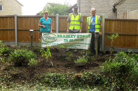 Bradley Stoke in Bloom volunteers have created a butterfly garden where The Common East joins Cornfield Close.