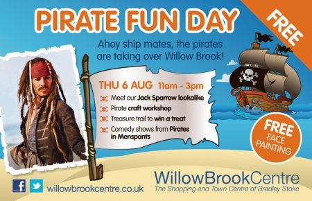 Pirate Fun Day at the Willow Brook Centre, Bradley Stoke.