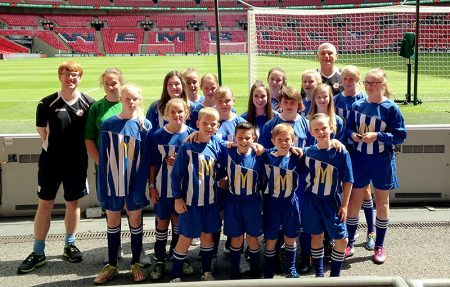Bradley Stoke Youth FC at Wembley.