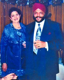 Dr Harmandar Singh Gupta with late wife Diljeet Kaur Gupta (Gigi).
