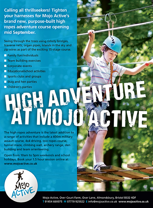 Mojo Active high ropes challenge.