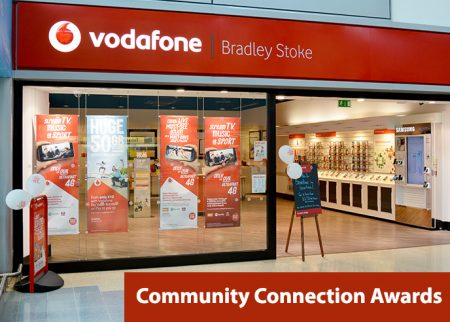 Vodafone Community Connection Awards, Bradley Stoke, Bristol.