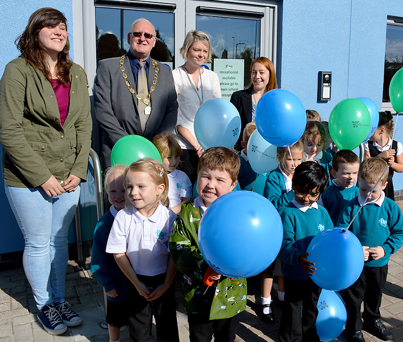Official opening of the primary phase at Bradley Stoke Community School.