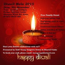 Diwali mela in Bradley Stoke on Sunday 8th November 2015.