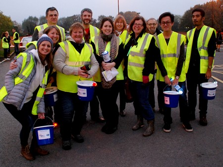 Charity collectors at the Bradley Stoke Fireworks Display 2015.