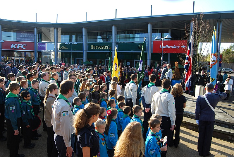 Bradley Stoke Remembrance Day Parade and Ceremony 2014.
