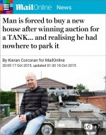 Bradley Stoke 'tank man' story on the Daily Mail website.