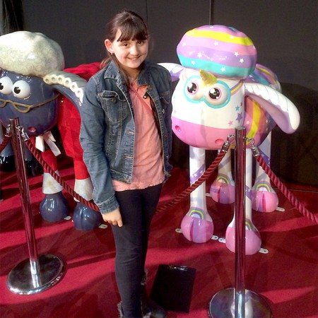 Hollie is reunited with 'Sparkles' at the charity auction held at The Mall, Cribbs Causeway.