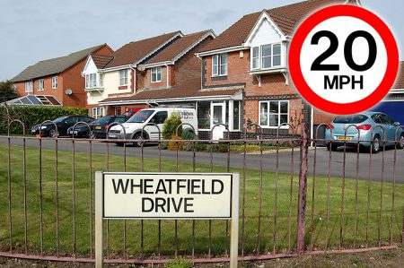 Proposed 20mph speed zone in Wheatfield Drive, Bradley Stoke, Bristol.