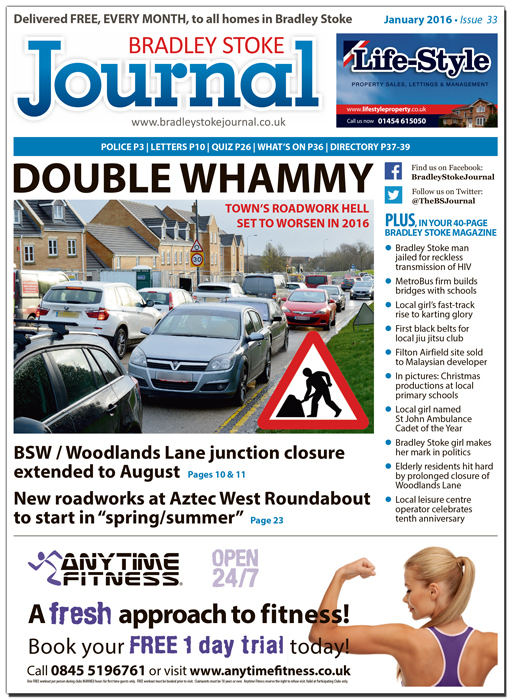 January 2016 edition of the Bradley Stoke Journal news magazine.