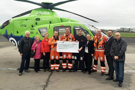 Bradley Stoke Lions support the Great Western Air Ambulance Charity with a donation of £500.