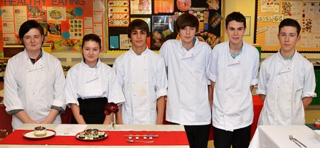 Bradley Stoke Rotary Young Chef 2015 contestants (l-r): Keeva Holder, Ciera Burns, Renato Espirito Santo, Daniel Davey, Ryan Jackson and Connor Bailey.