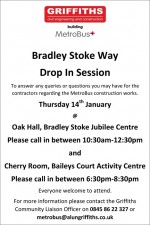 MetroBus construction public drop-in sessions in Bradley Stoke, January 2016.