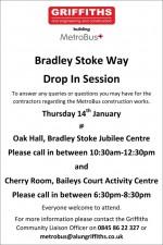 MetroBus construction public drop-in sessions in Bradley Stoke, January 2016.