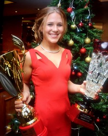 Paige Holden, Dunkeswell Kart Racing Club's Lady Driver of the Year and Rotax MiniMax Champion in 2015.
