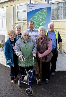 Residents of Woodlands Park, Bradley Stoke, who are affected by the prolonged closure of Woodlands Lane.