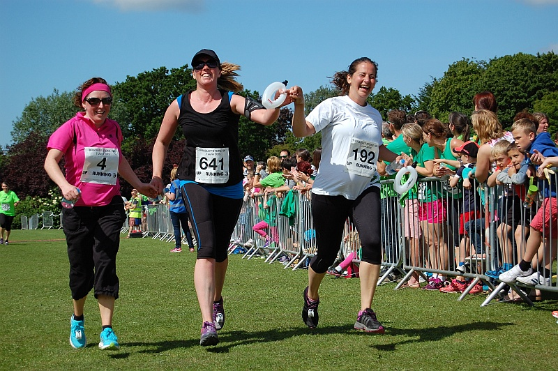 Approaching the finish line in the Bradley Stoke 10k Run 2015.