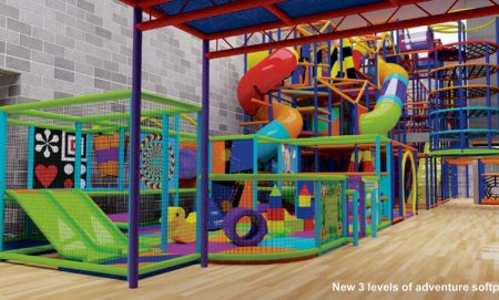 Artist's impression of new three-level softplay area at Bradley Stoke Leisure Centre.