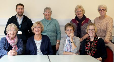 Jamie Dockerty (back row, left), Knightstone's social coordinator, with members of the group that meets on Wednesdays at the Jubilee Centre.