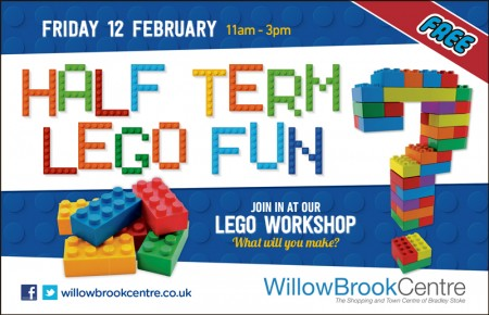 Half-term Lego fun at the Willow Brook Centre, Bradley Stoke.